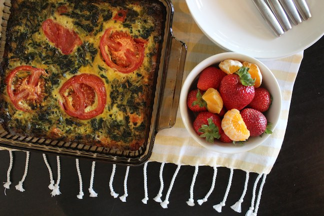 Crustless Garden Quiche